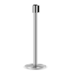 metal barrier with a belt to control the queue vector image