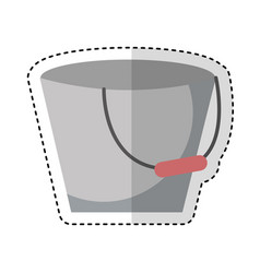 Metal bucket isolated icon vector