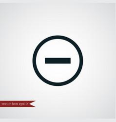 Minus icon simple vector