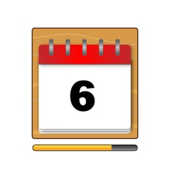 On the sixth day in the calendar vector image