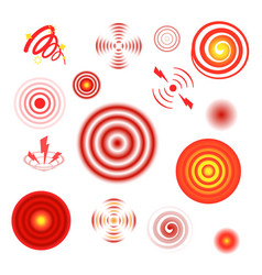 pain circles healthcare red stylized graphic vector image