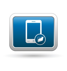 Phone with folder icon vector