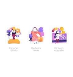 Purchase decision process concept metaphors vector