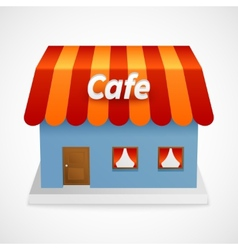 Restaurant 3d building vector image