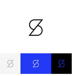 s logo icon symbol sign form letters s vector image