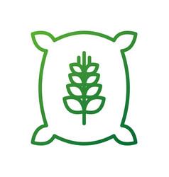 Sack bag of wheat flour grain farm vector