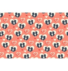 Seamless Festive Pattern with Love Couple and vector image