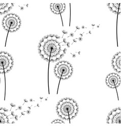 Seamless pattern background with dandelion fluff vector