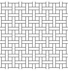 Seamless wicker pattern - geometric vector