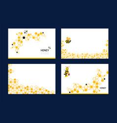 Set honeycomb background pattern orange color vector