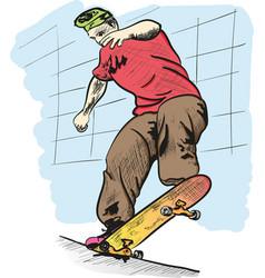 skate board vector image