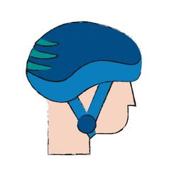 ski sport helmet vector image