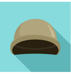 Soldier helmet icon flat style vector
