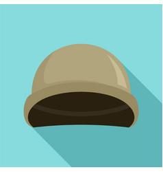 soldier helmet icon flat style vector image