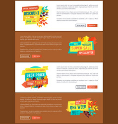 Special promotion discount vector