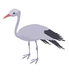 stork icon isometric style vector image