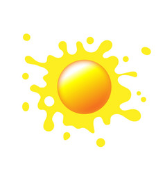 Sun icon with rays out of blot sign or logo vector