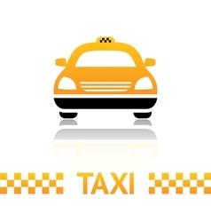 Taxi cab symbol vector image