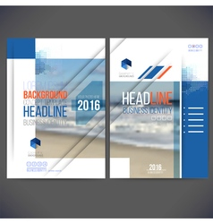 template design annual report 2017 layout with vector image