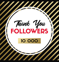 Thank you 10000 followers banner for social media vector