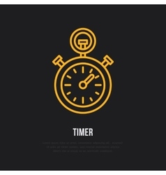 Timer line icon Sport championship vector