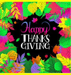 typography happy thanksgiving vector image