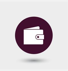 wallet icon simple vector image