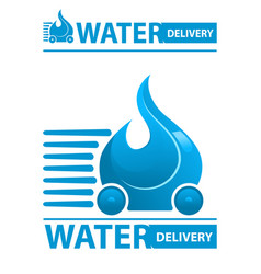 water delivery icon vector image