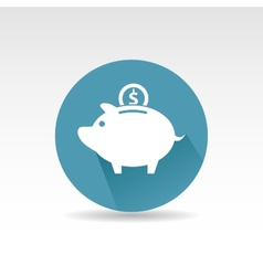 White pig icon Flat design vector image