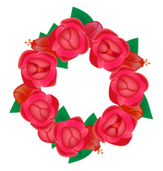 wreath flowers vector image