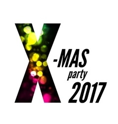 X-mas party with bokeh vector image