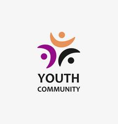 Youth community logo vector
