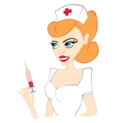 Attractive nurse vector image vector image