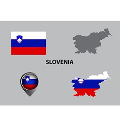 Map of Slovenia and symbol vector image