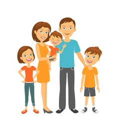 Mother and father with children Happy family vector image