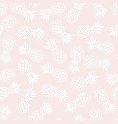 pineapple seamless pattern on pink background vector image