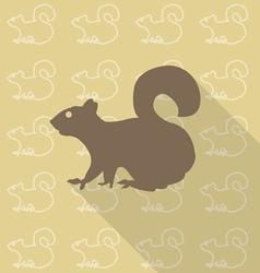squirrel sit vector image vector image