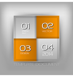 business four squares orange with text vector image