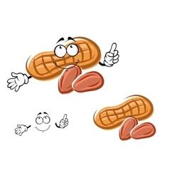 Cartoon orange peanut and nuts vector image