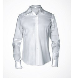 White male shirt vector image vector image