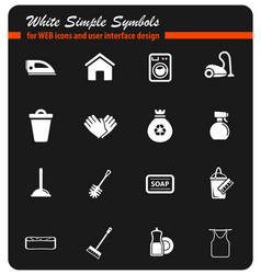 Cleaning service simply icons vector