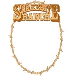 Snakebite ranch frame vector image vector image