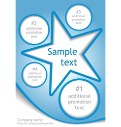 Star layout vector image