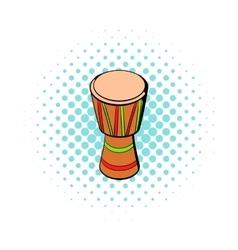 Australian ethnic drum icon comics style vector image vector image