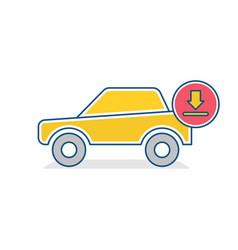 auto icon car download sign vector image