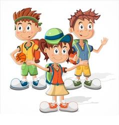 schoolchildren vector image