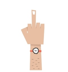 simple man hand with middle finger vector image