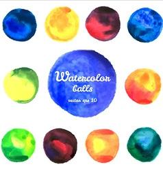 watercolor balls vector image vector image
