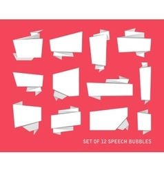 Abstract banners set isolated on the background vector image