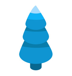 abstract blue fir tree icon isometric style vector image